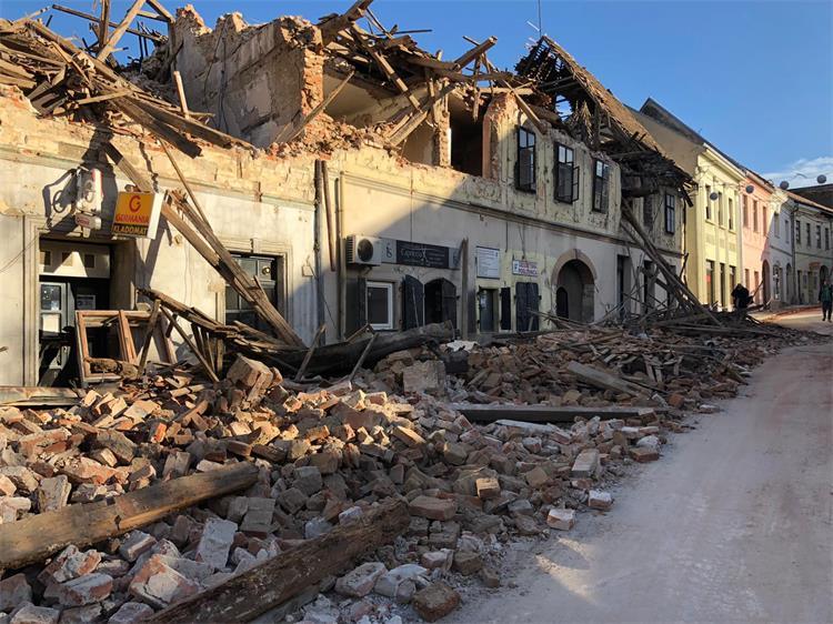 Image result for potres u petrinji krajem decembra